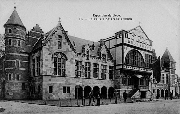 Liege Expo 1905 - Palais de l'Art Ancien avec la reproduction de la Violette en son centre